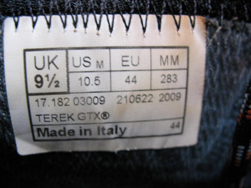 Ботинки LOWA Terek GTX boots (размер US10,5/UK9,5/EU44(на стопу до 283mm)) - 10