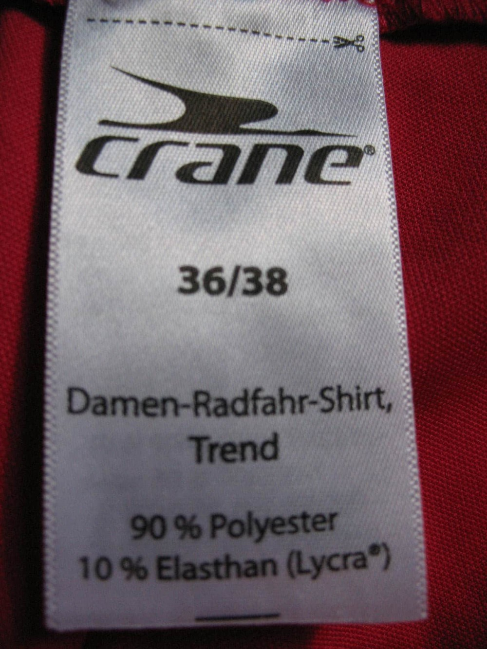Веломайка CRANE cyckling jersey lady (размер 36/38-M) - 4
