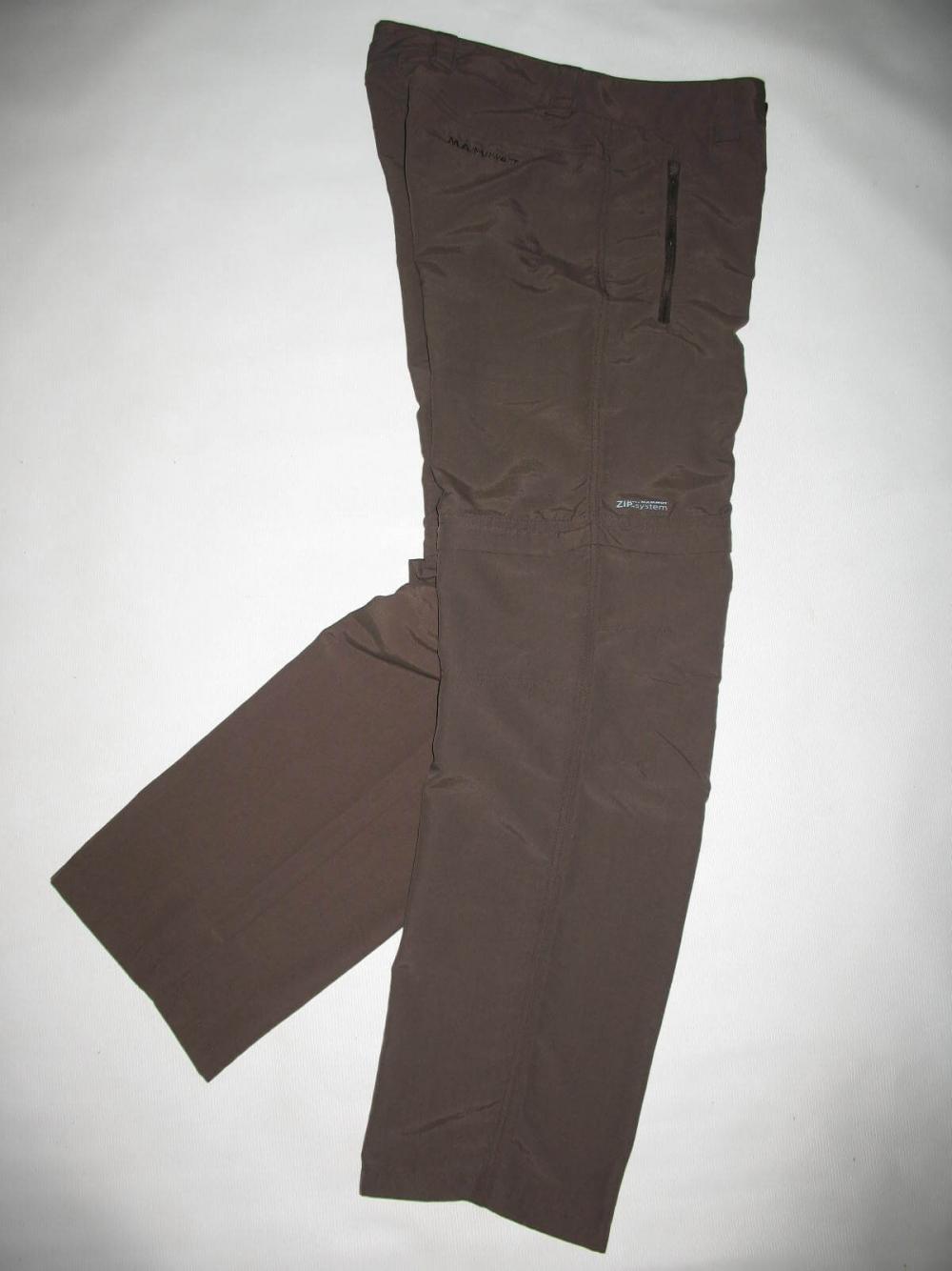 Штаны MAMMUT Zip Off brown pants lady (размер S/XS) - 7