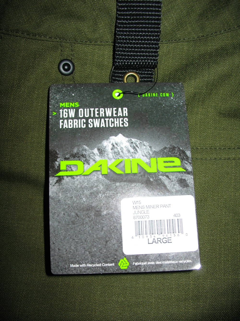 Штаны DAKINE Miner jungle ski/snowboard pants (размер L) - 10