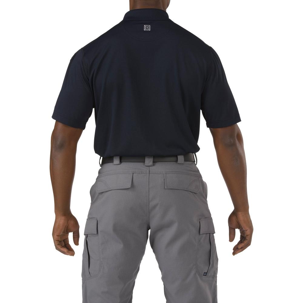 Футболка 5.11  tactical professional pinnacle navy short sleeve polo jersey - 1