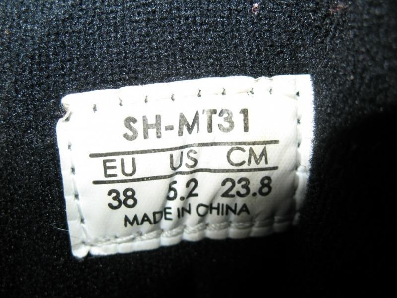 Велотуфли SHIMANO SH-MT31  (размер US5, 5;EU38(на стопу до 238 mm)) - 10