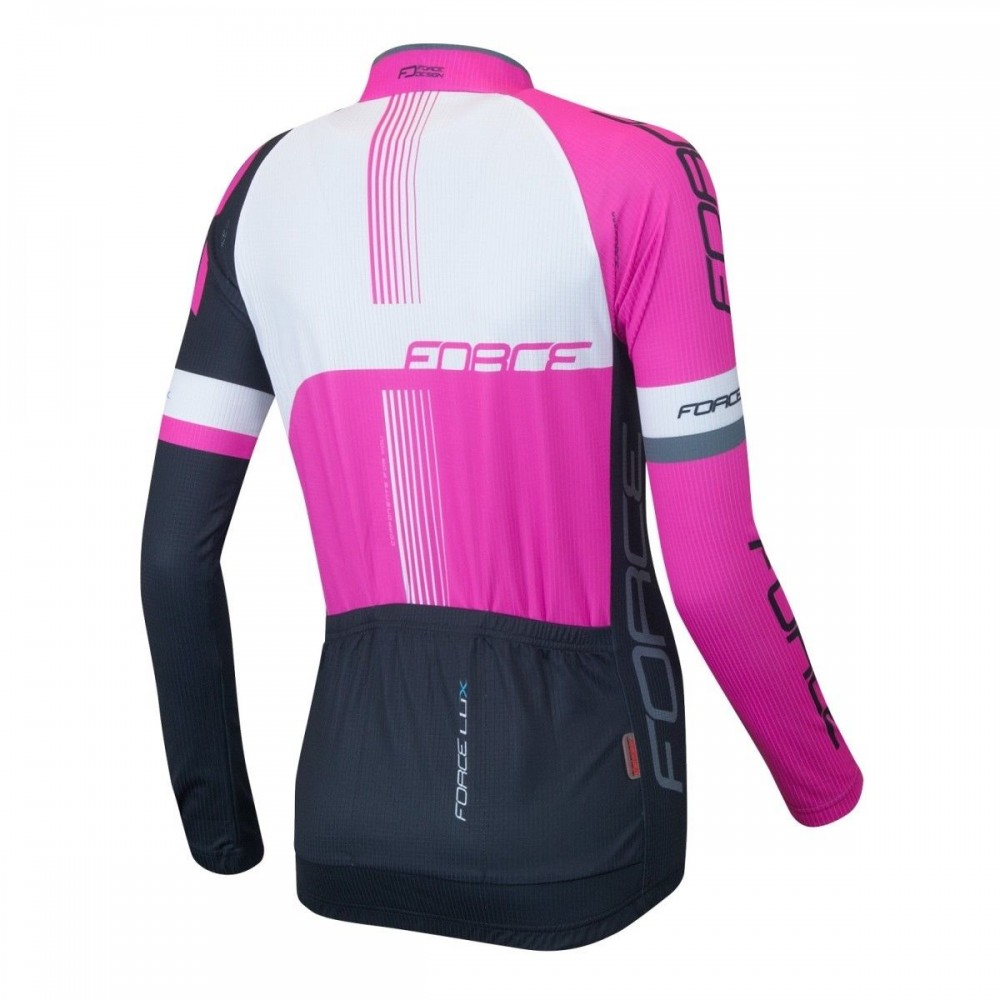 Велоджерси FORCE lux longsleeve cycling jersey lady (размер M) - 1