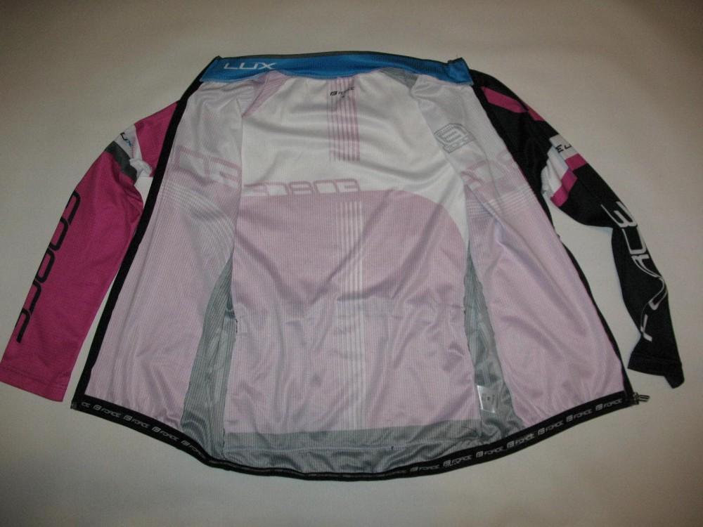 Велоджерси FORCE lux longsleeve cycling jersey lady (размер M) - 6
