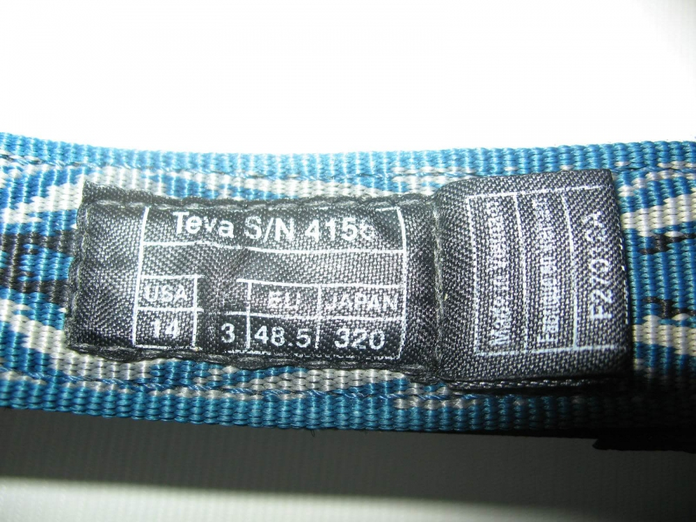 Сандалии TEVA hurricane sandal (размер UK13/US14/EU48,5(на стопу до 320mm)) - 9