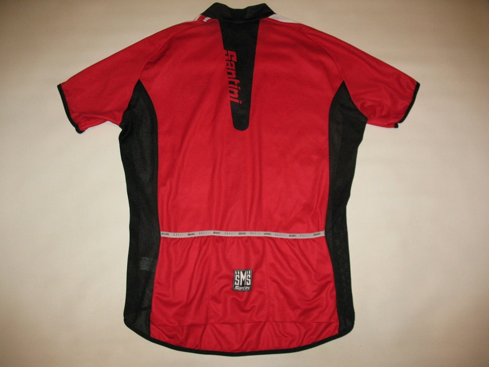 Веломайка SANTINI red cycling jersey (размер XL) - 1