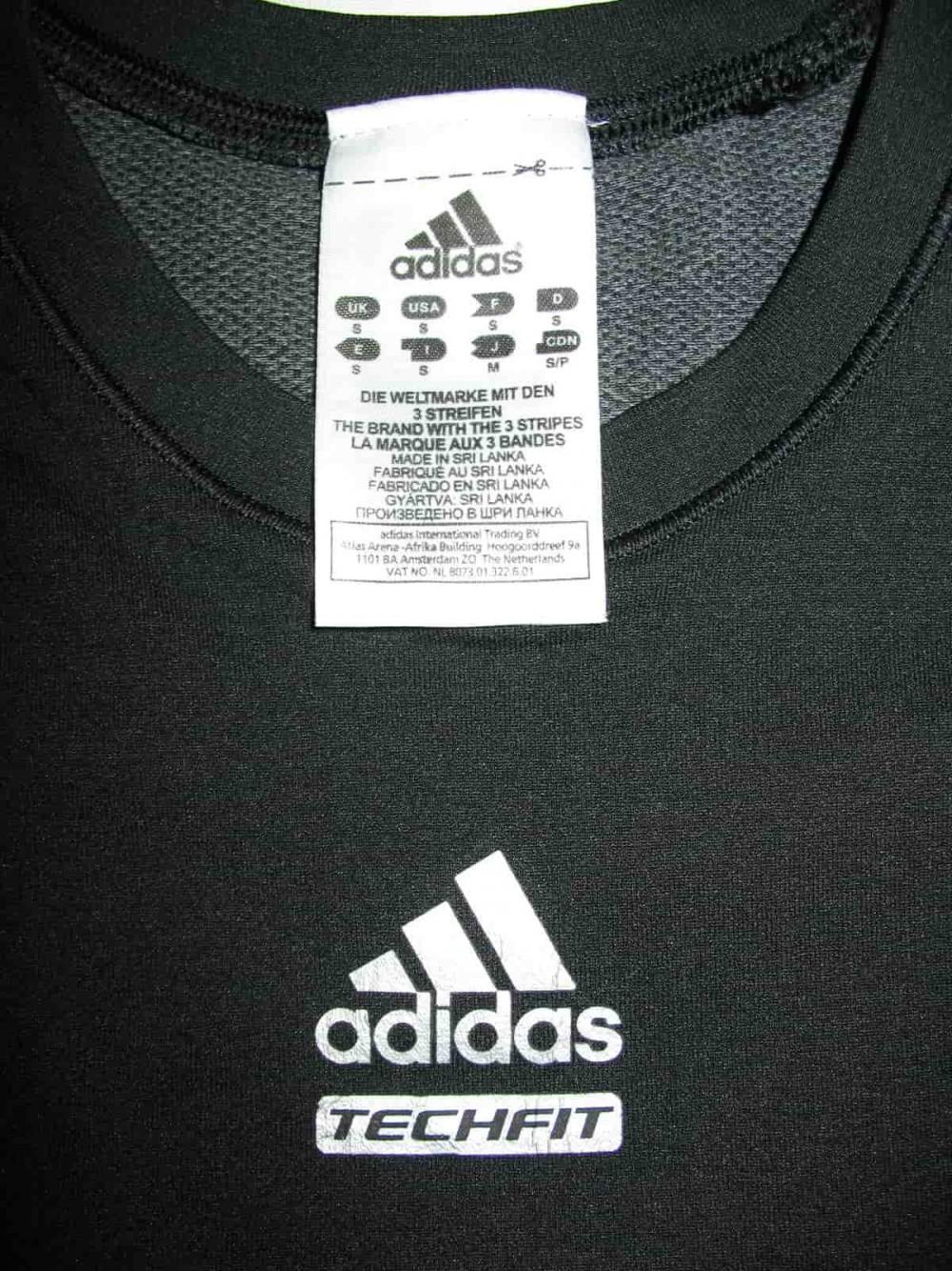 ADIDAS techfit ss jersey (размер S) - 2