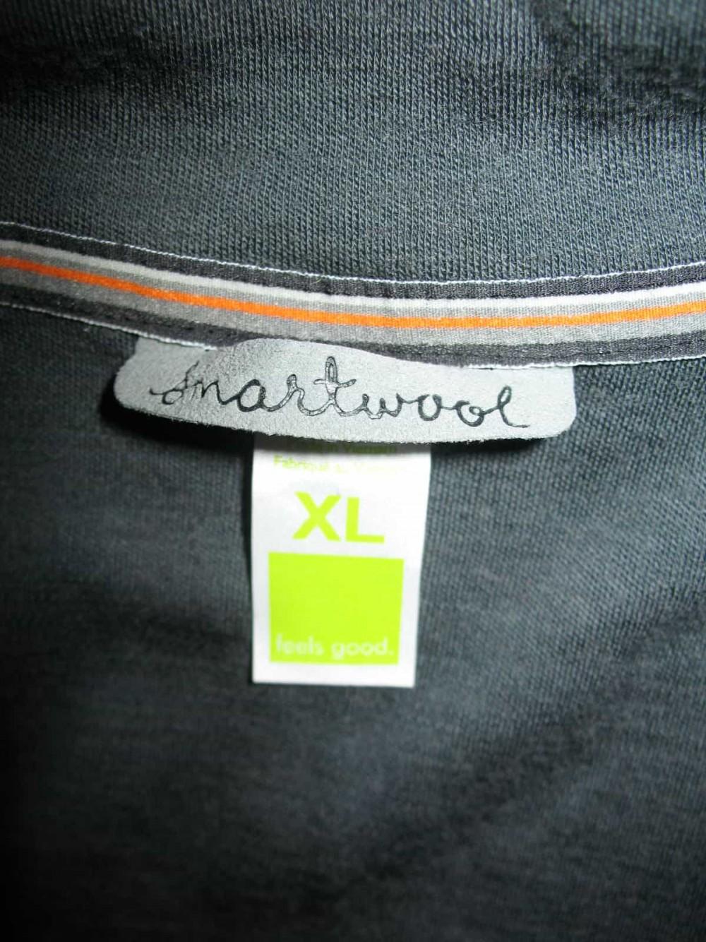Кофта SMARTWOOL merino 250 base layer 1/4 zip grey jersey (размер XL) - 4