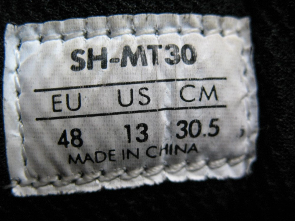 Велотуфли SHIMANO sh-mt30 mtb shoes (размер US13/EU48(на стопу до 305 mm)) - 10