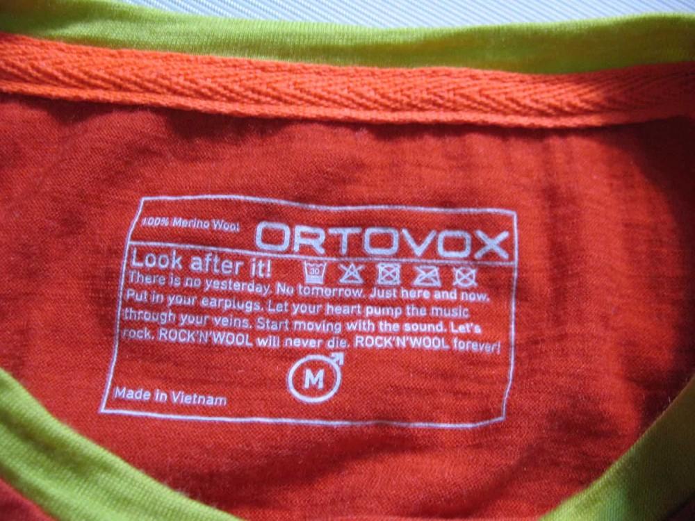 Футболка ORTOVOX rock'n'wool short sleeve jersey (размер М) - 4
