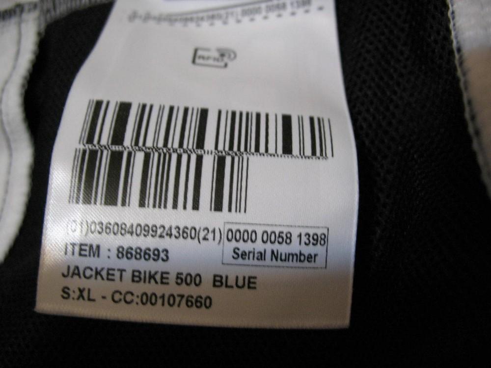 Велокуртка B'TWIN windblock 500 bike jacket (размер 52-54/L-XL) - 11