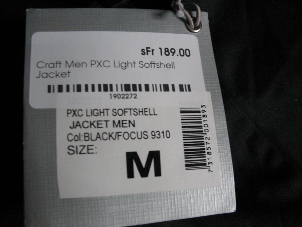 Куртка CRAFT pxc light softshell black jacket (размер M) - 9