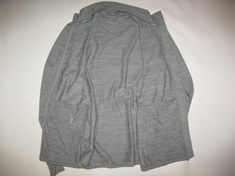 Кофта ICEBREAKER Midweight long sleeve Jacket(размер L) - 8
