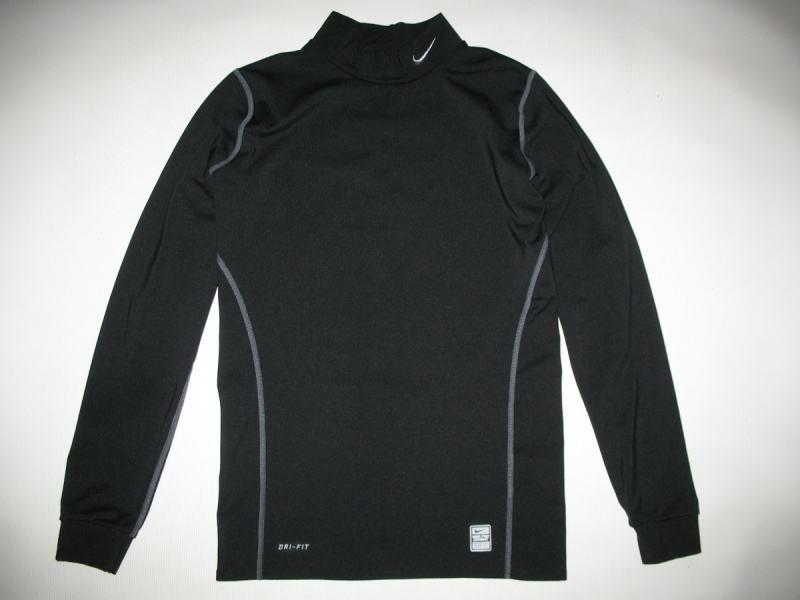 Футболка NIKE Pro Combat Fitted Mock Neck Shirt Dri-Fit (размер юношеский XL/взрослый XS/S) - 2