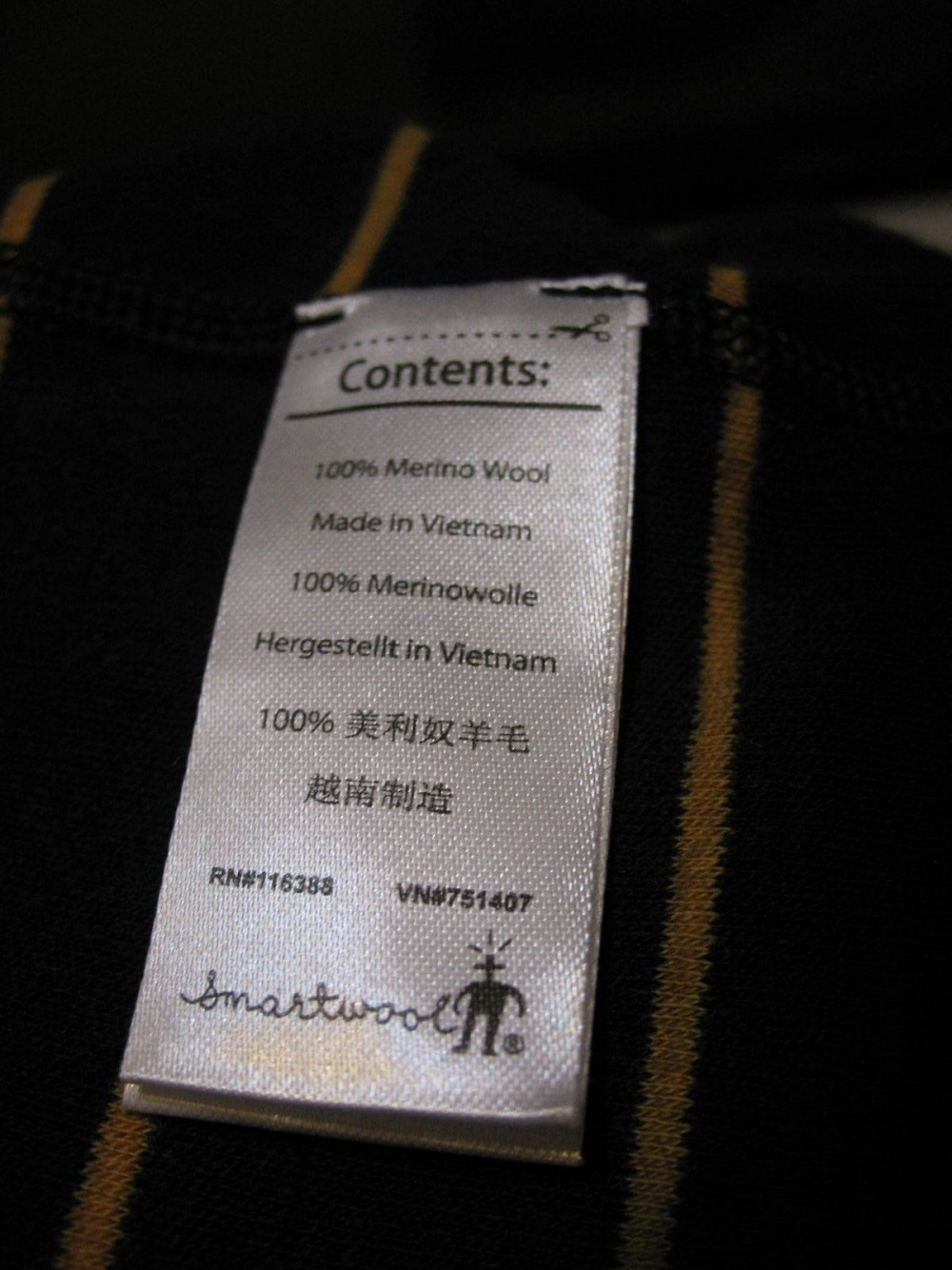 Кофта SMARTWOOL merino 250 base layer 1/4 zip navy jersey (размер М) - 5