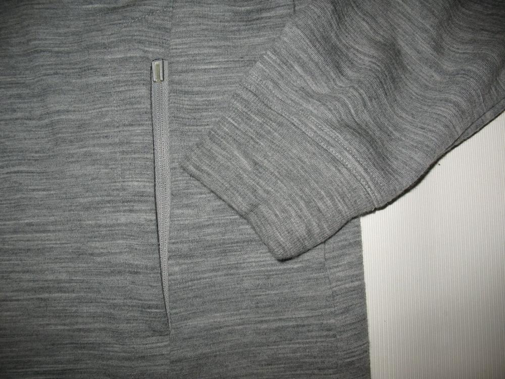 Кофта ICEBREAKER Midweight long sleeve Jacket(размер L) - 6