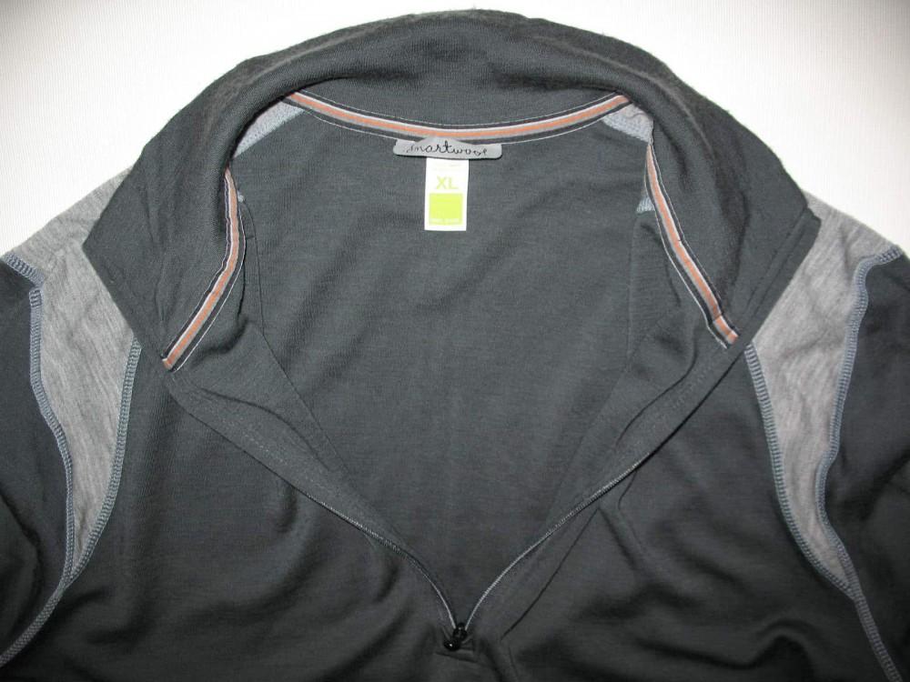 Кофта SMARTWOOL merino 250 base layer 1/4 zip grey jersey (размер XL) - 2