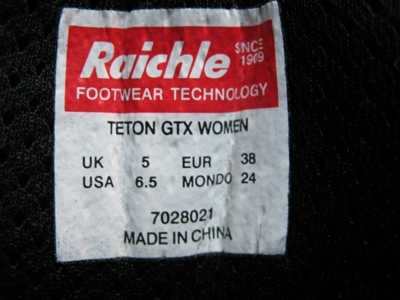 Ботинки  MAMMUT teton GTX lady (размер UK5/US6, 5/EU38(на стопу 240mm)) - 12