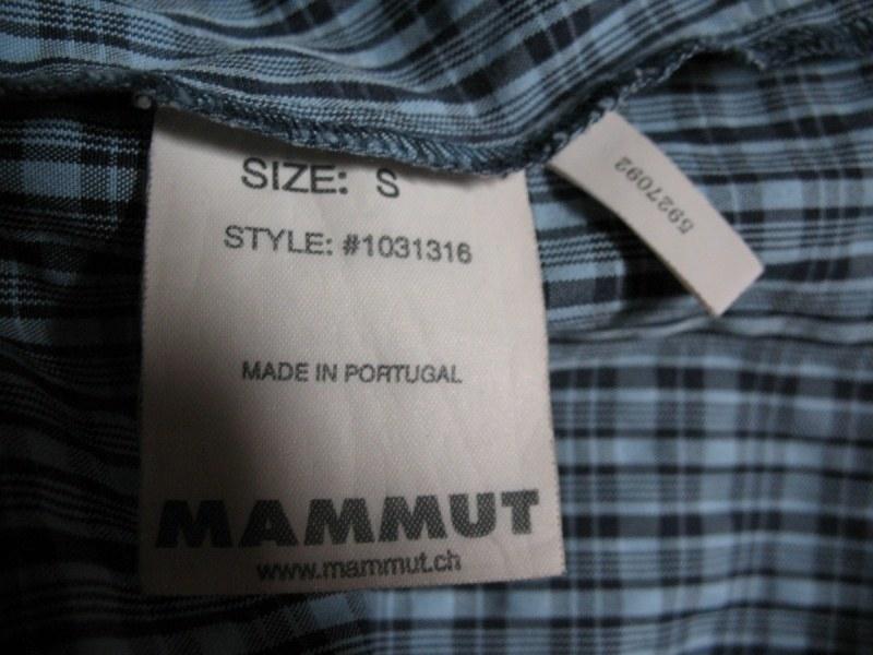 Рубашка MAMMUT shirts lady (размер S) - 1