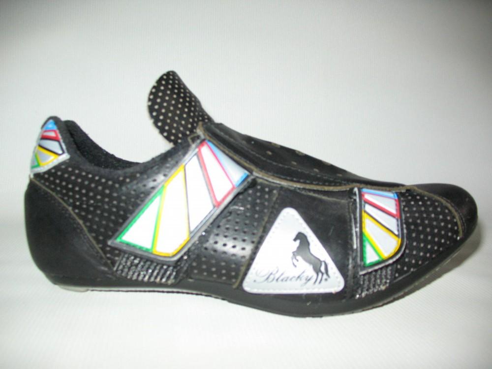 Велотуфли BLACKY cycling road shoes (размер EU41(на стопу до 250 mm)) - 1
