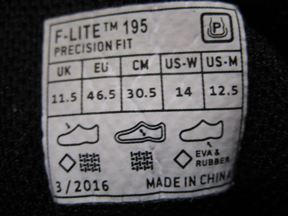 Кроссовки INOV 8  f-lite195 cross-training shoe (размер US12,5/UK11,5/EU46,5(на стопу до   305 mm)) - 12