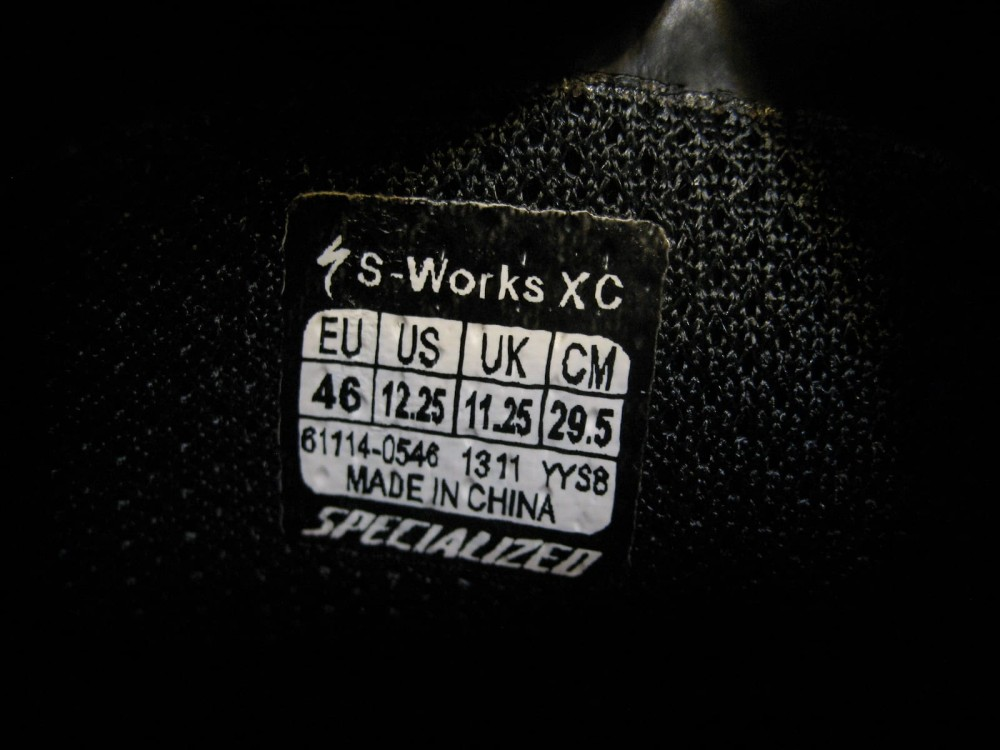 Велотуфли SPECIALIZED s-works xc mtb shoes (размер US12.25/UK11.25/EU46(на стопу до 295 mm)) - 10