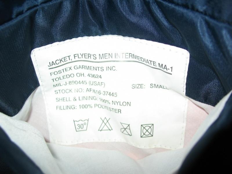 Куртка FOSTEX bomber MA-1 jacket (размер S/M) - 9