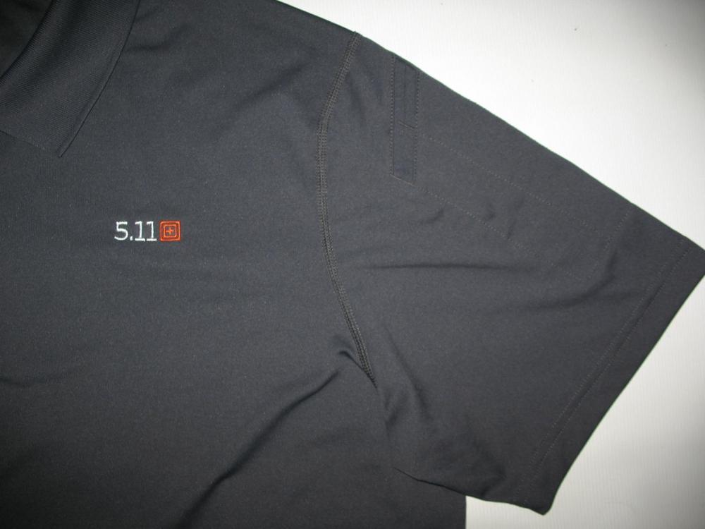 Футболка 5.11  tactical professional pinnacle grey short sleeve polo jersey - 6