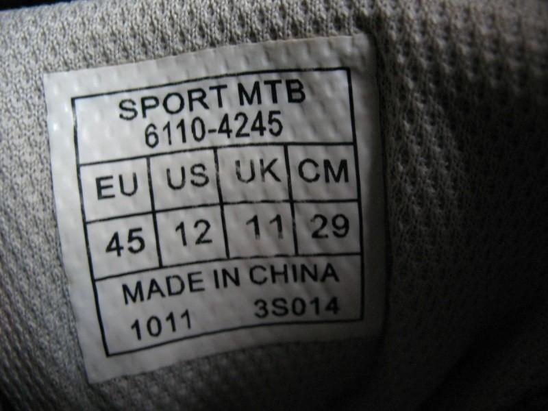 Велообувь SPECIALIZED sport mtb (размер UK11/US12/EU45(на стопу 290mm)) - 11