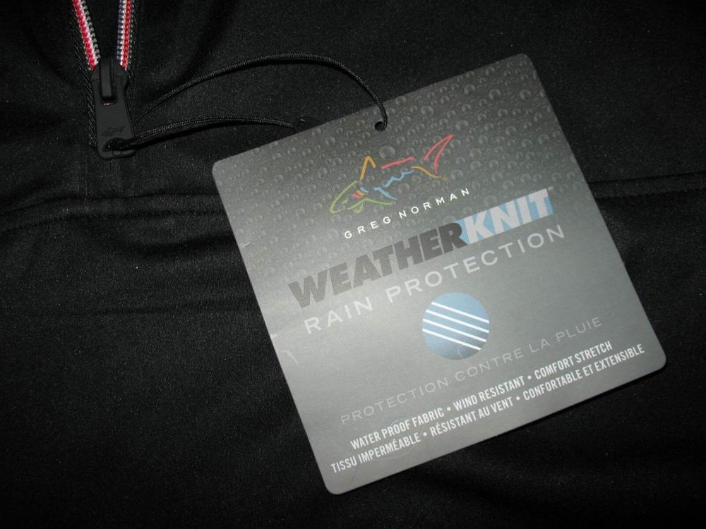 Футболка  GREG NORMAN Weatherknit Rain Protection 1/4-Zip Short Sleeve (размер L(реально XL)) - 6