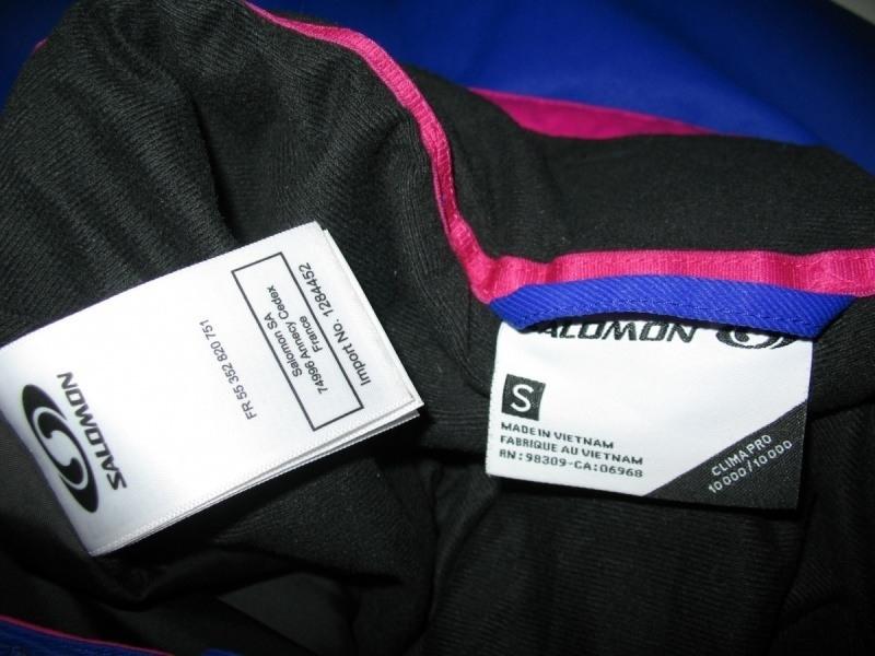 Штаны  SALOMON climapro 10/10 pants lady  (размер S) - 13