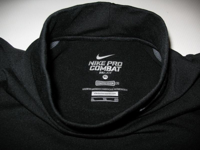 Футболка NIKE Pro Combat Fitted Mock Neck Shirt Dri-Fit (размер юношеский XL/взрослый XS/S) - 4