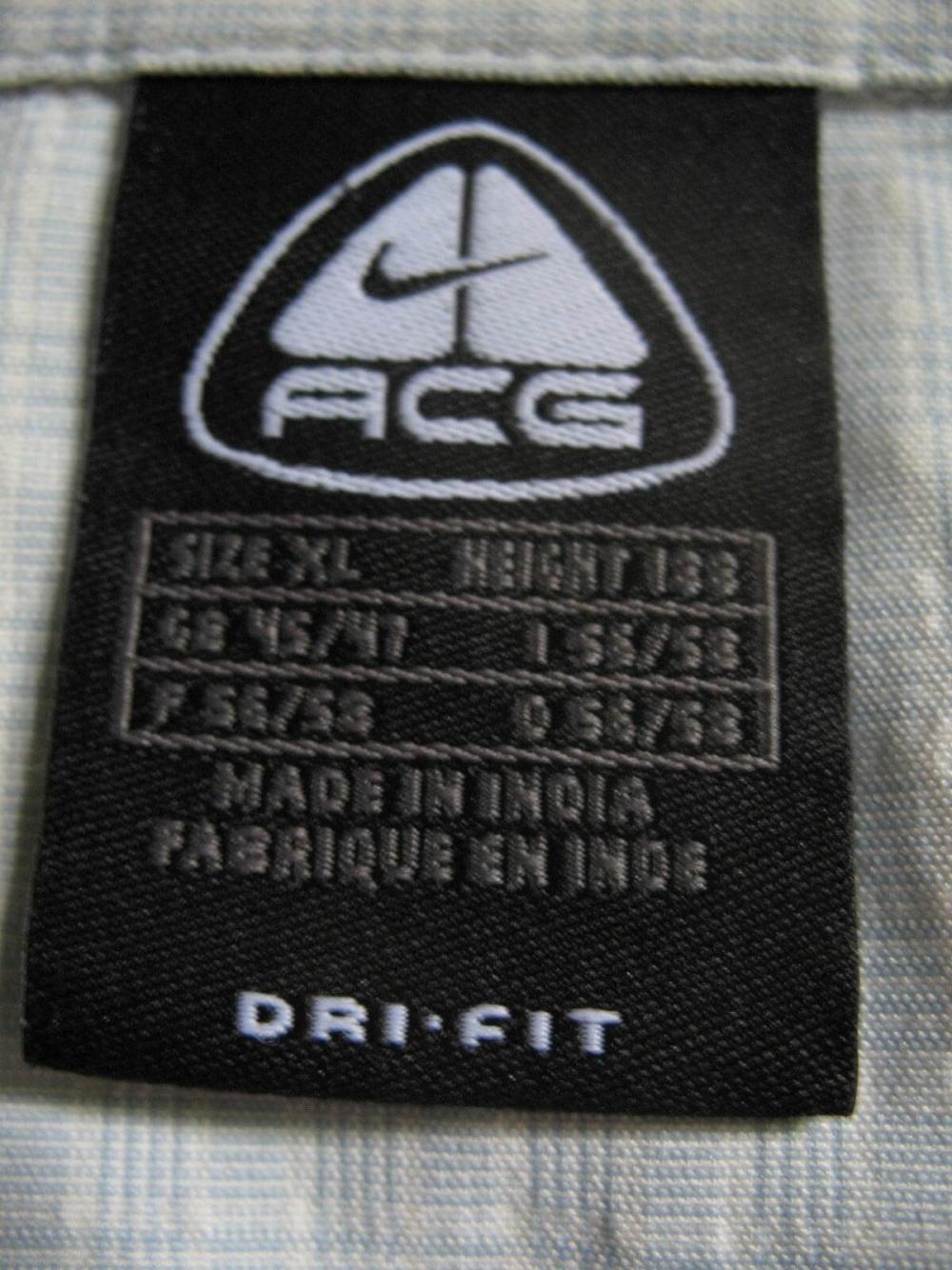 Рубашка NIKE acg dri fit shirt (размер XL/XXL) - 8