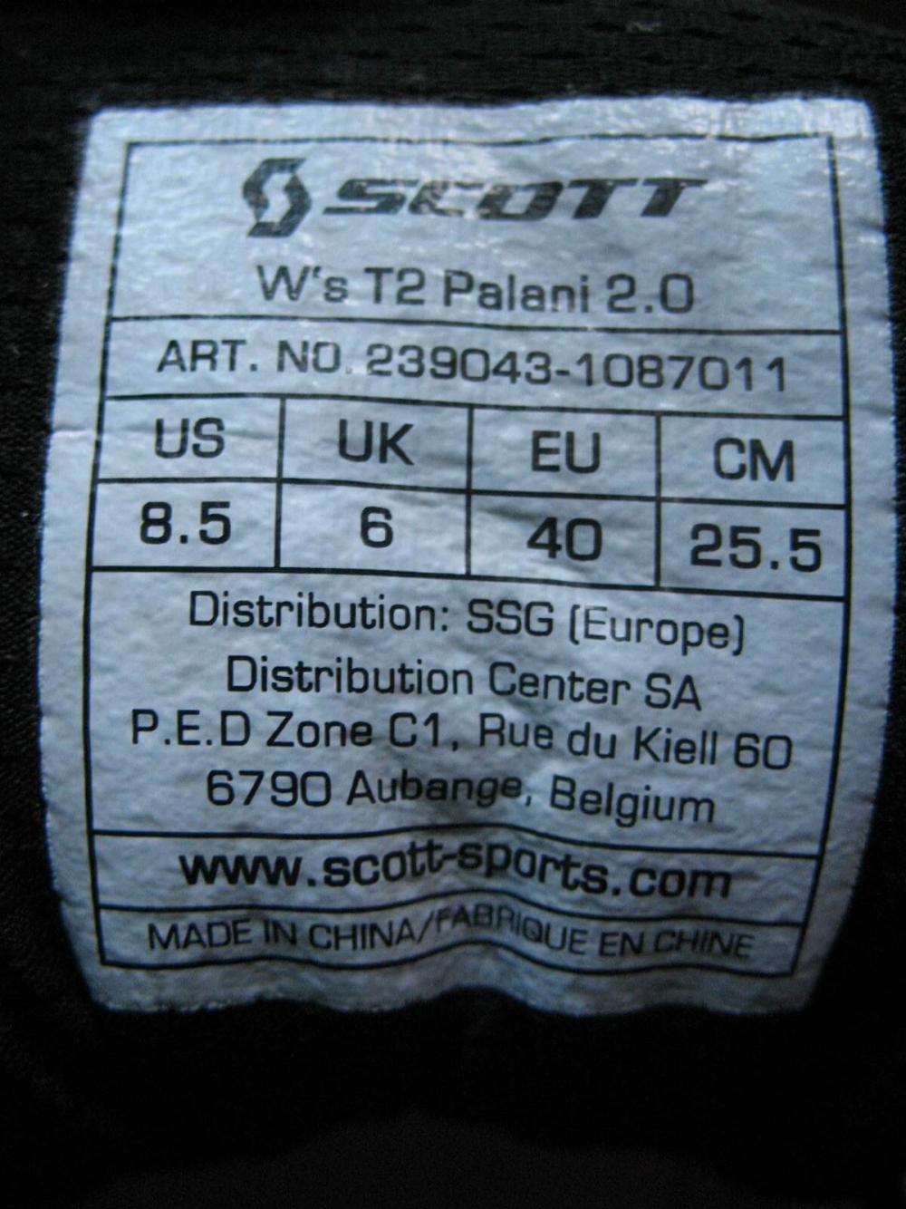 Кроссовки SCOTT T2 Palani 2.0 shoe lady (размер UK6/US8,5/EU40(на стопу до 255mm)) - 13