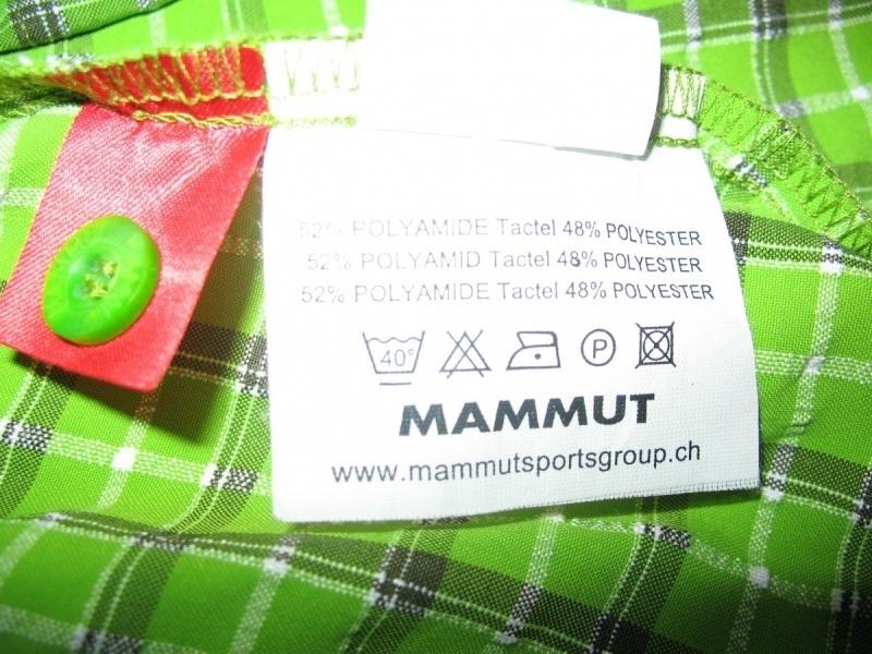 Рубашка MAMMUT shirts green lady  (размер S/M) - 5