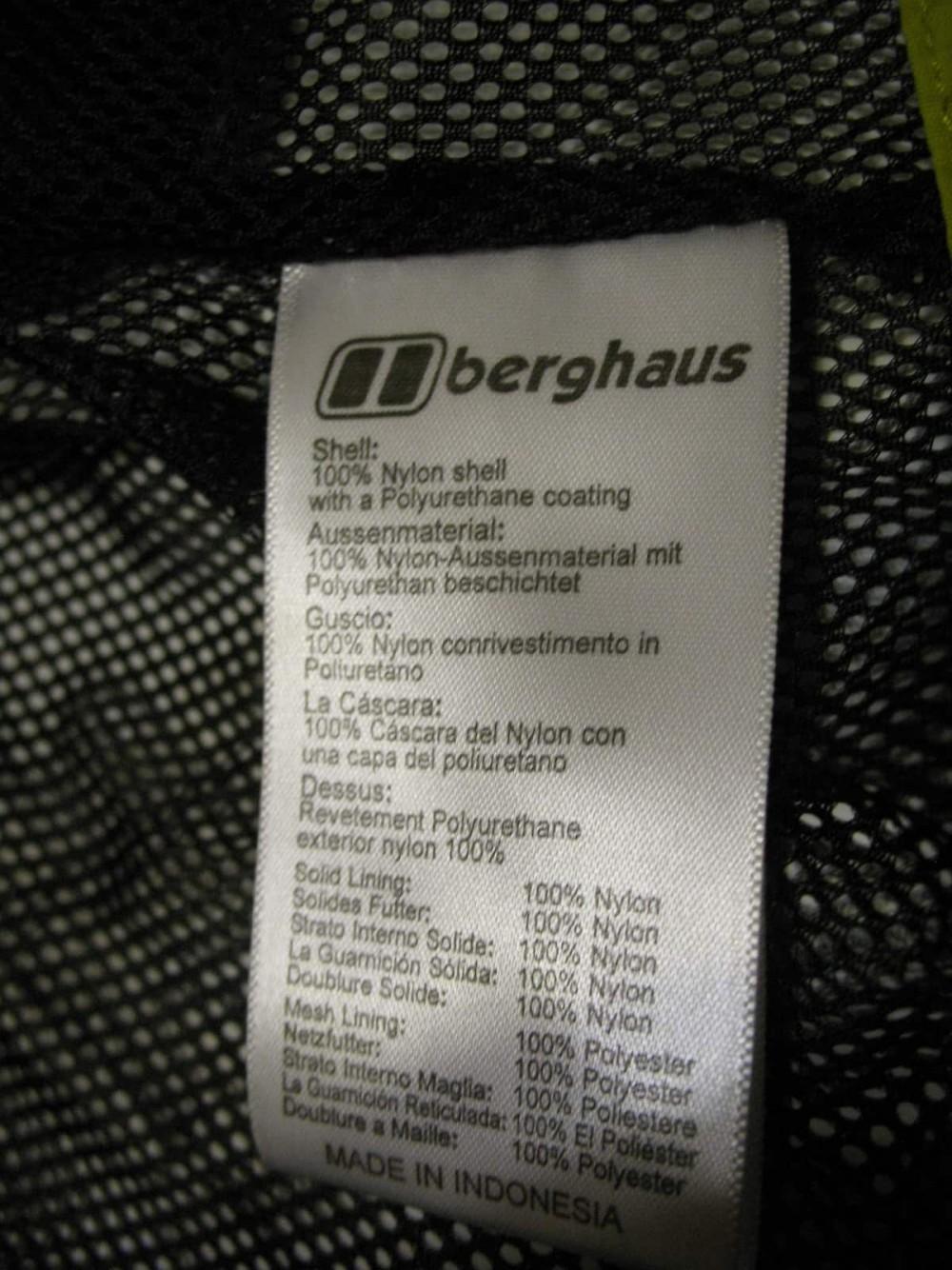 Куртка BERGHAUS aq2 waterproof jacket (размер L) - 11