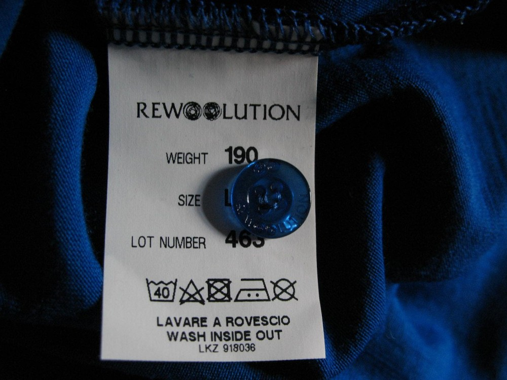 Футболка поло REWOOLUTION 190 polo jersey (размер L) - 4