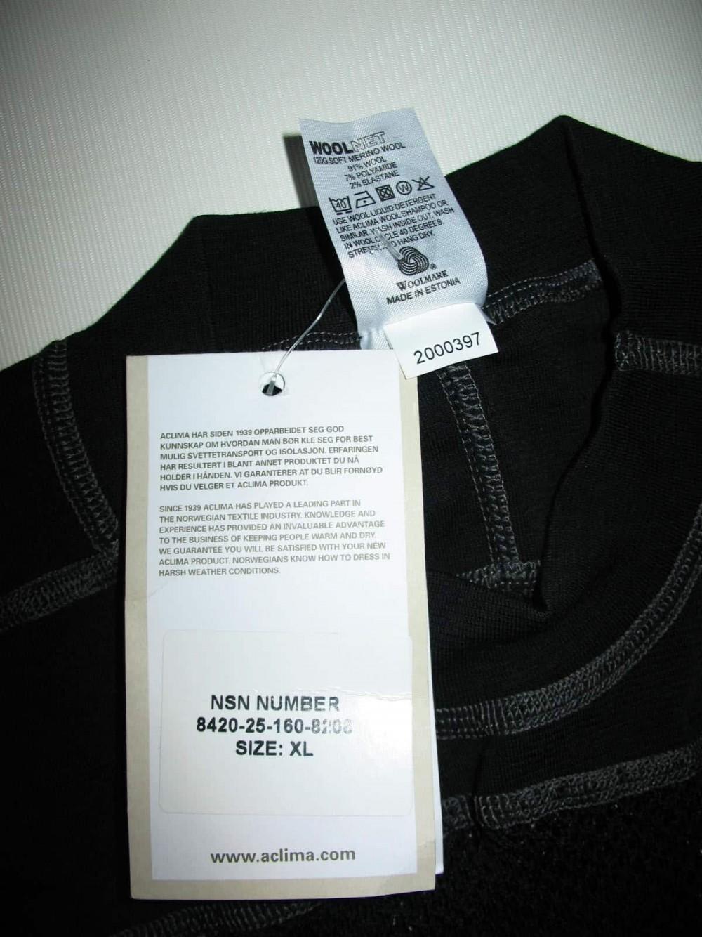 Термобелье ACLIMA 120G soft merino wool jersey (размер XL) - 8