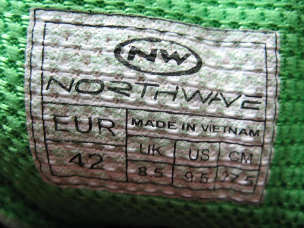 Велотуфли NORTHWAVE mission bike shoes (размер US9,5/UK8,5/EU42(на стопу до 270 mm)) - 9