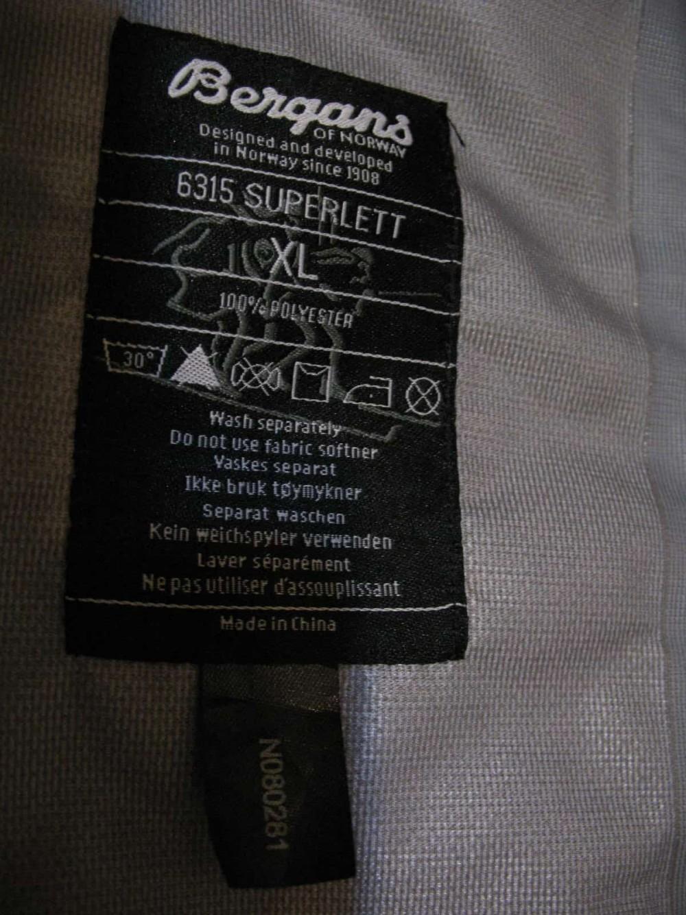 Куртка BERGANS super lett jacket (размер XL) - 10