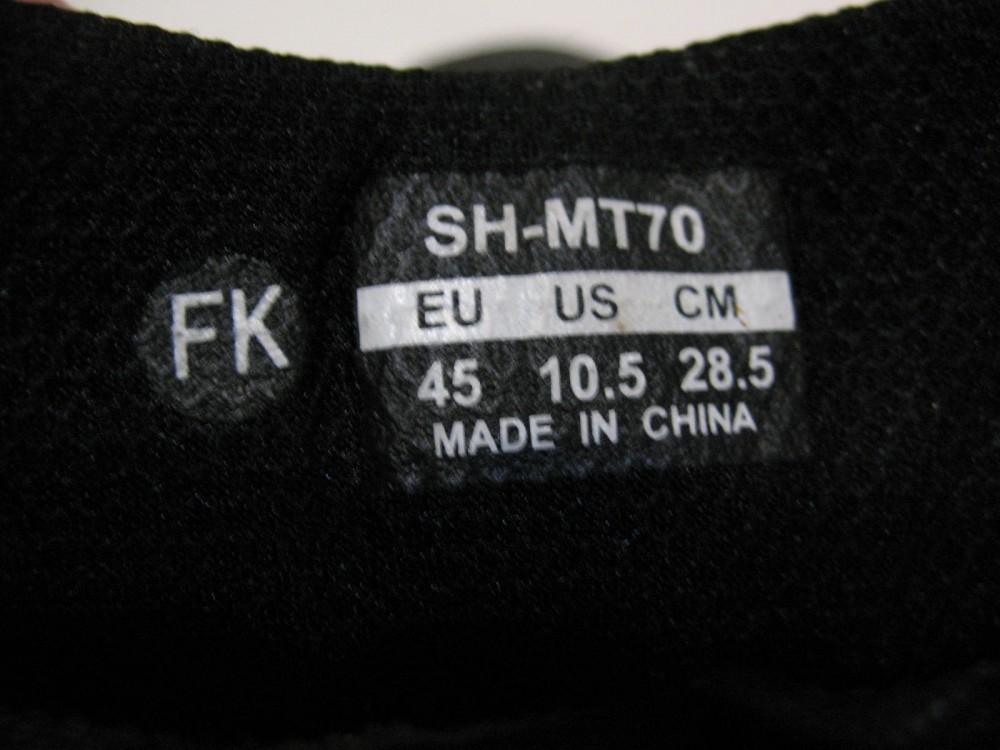 Велотуфли SHIMANO sh-mt70 GTX shoes (размер US10,5;EU45(на стопу до 285 mm)) - 10
