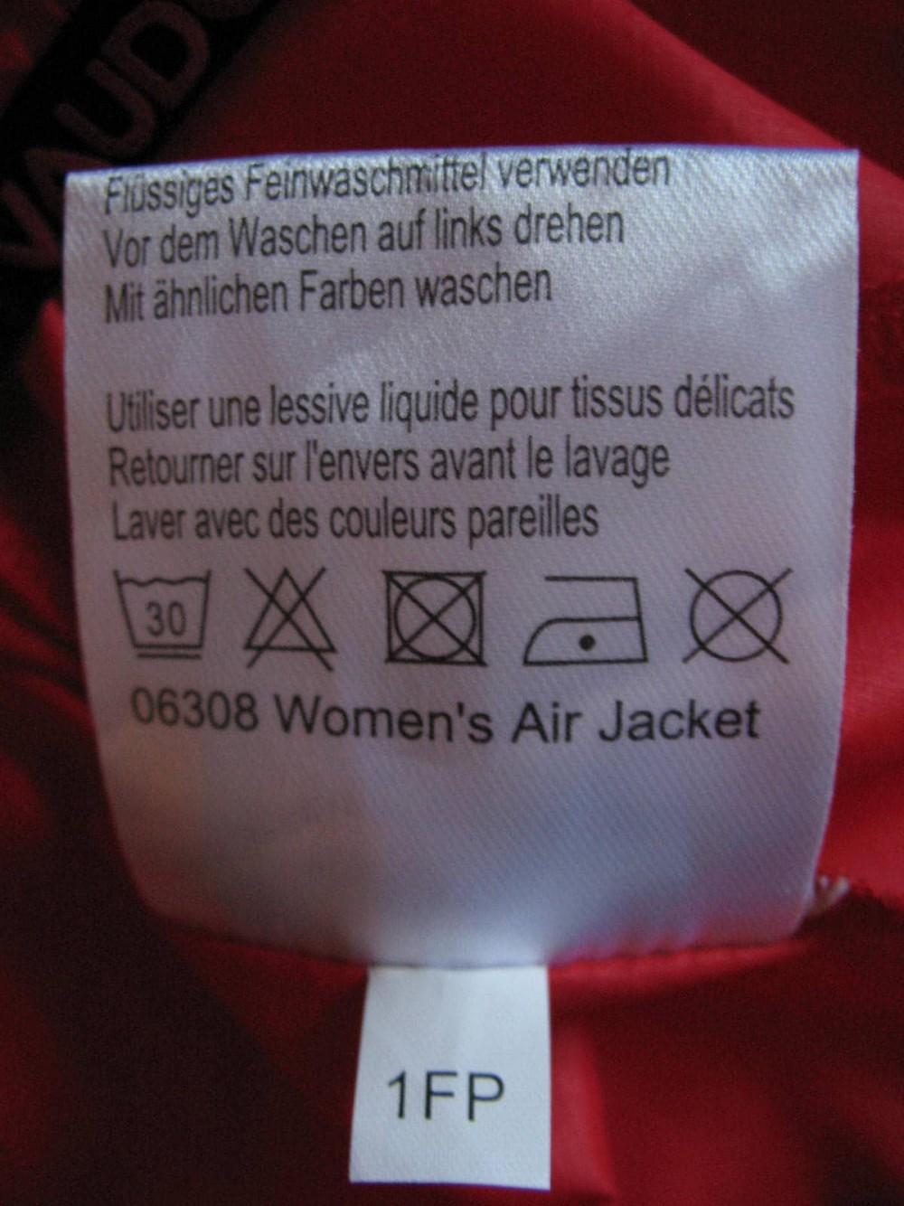 Куртка VAUDE air jacket lady (размер 38-S/M) - 8