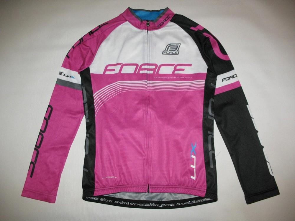 Велоджерси FORCE lux longsleeve cycling jersey lady (размер M) - 2