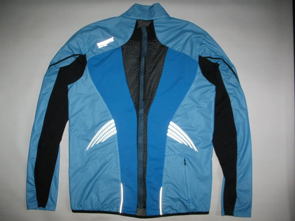 Вело/бег куртка GORE gtx windstopper ultralight blue jacket (размер XXL) - 6