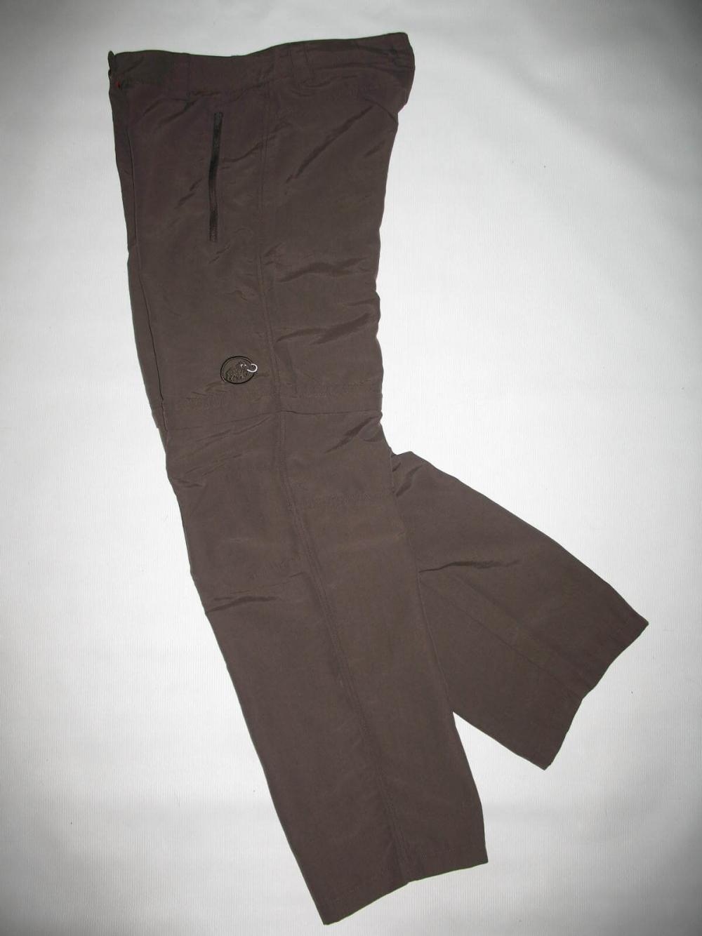 Штаны MAMMUT Zip Off brown pants lady (размер S/XS) - 3