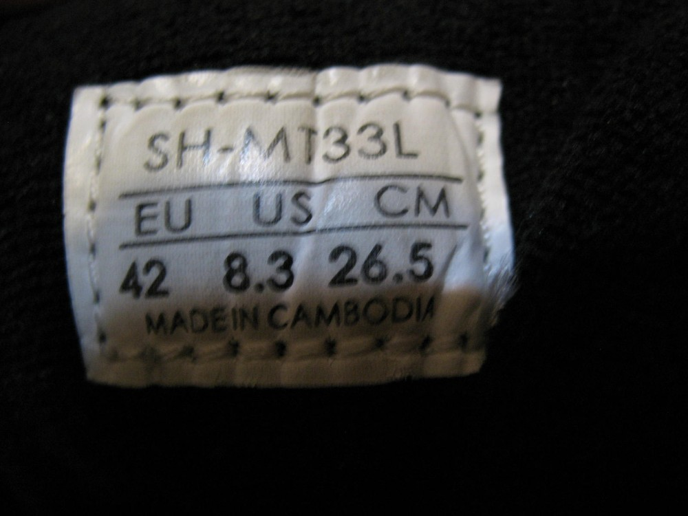 Велотуфли SHIMANO sh-mt33 mtb shoes (размер EU42(на стопу 260 mm)) - 9