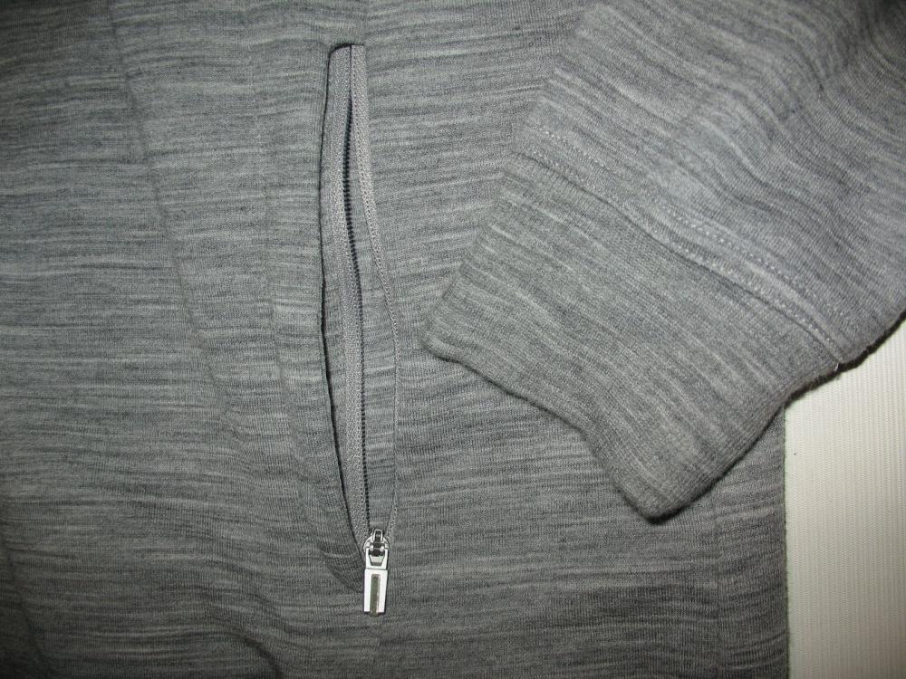 Кофта ICEBREAKER Midweight long sleeve Jacket(размер L) - 5