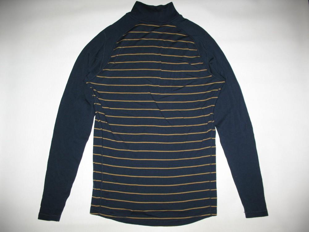 Кофта SMARTWOOL merino 250 base layer 1/4 zip navy jersey (размер М) - 2