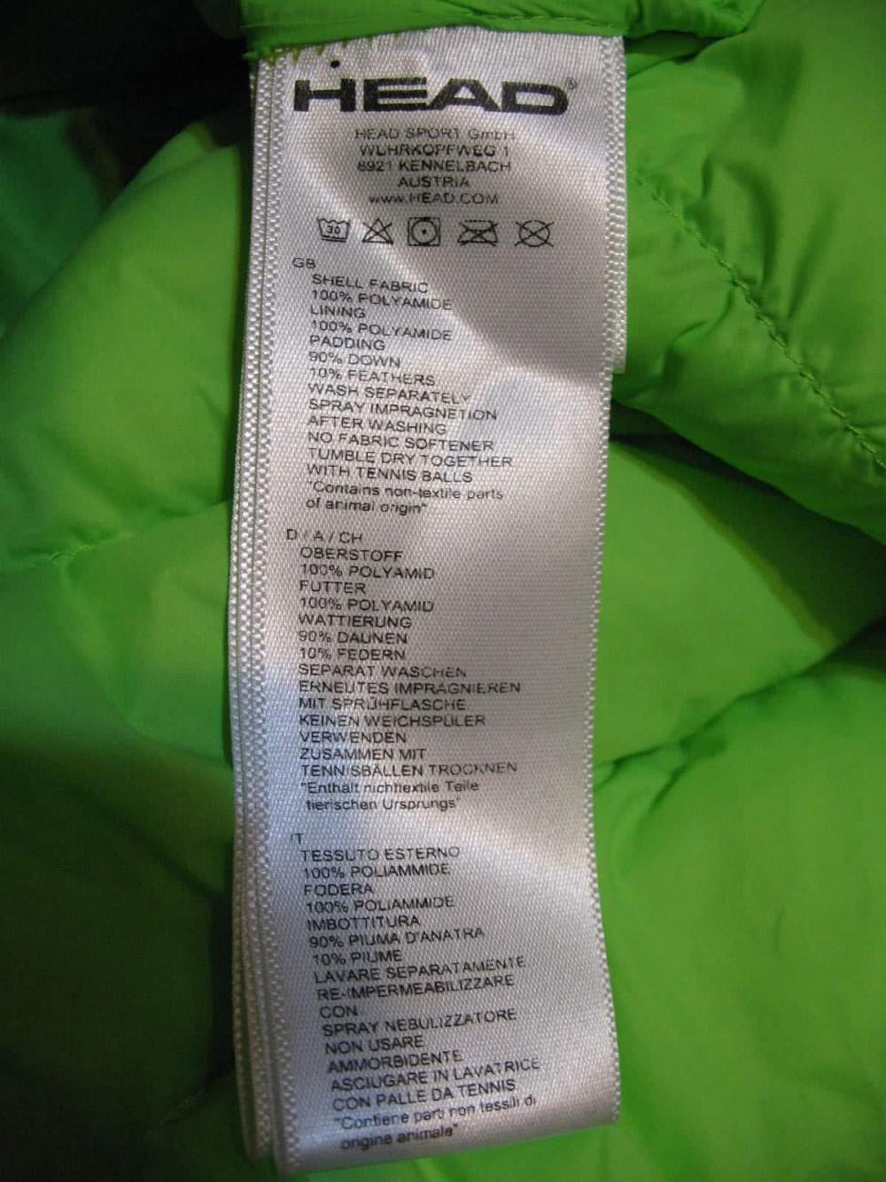 Куртка HEAD light insulation down jacket (размер L) - 7