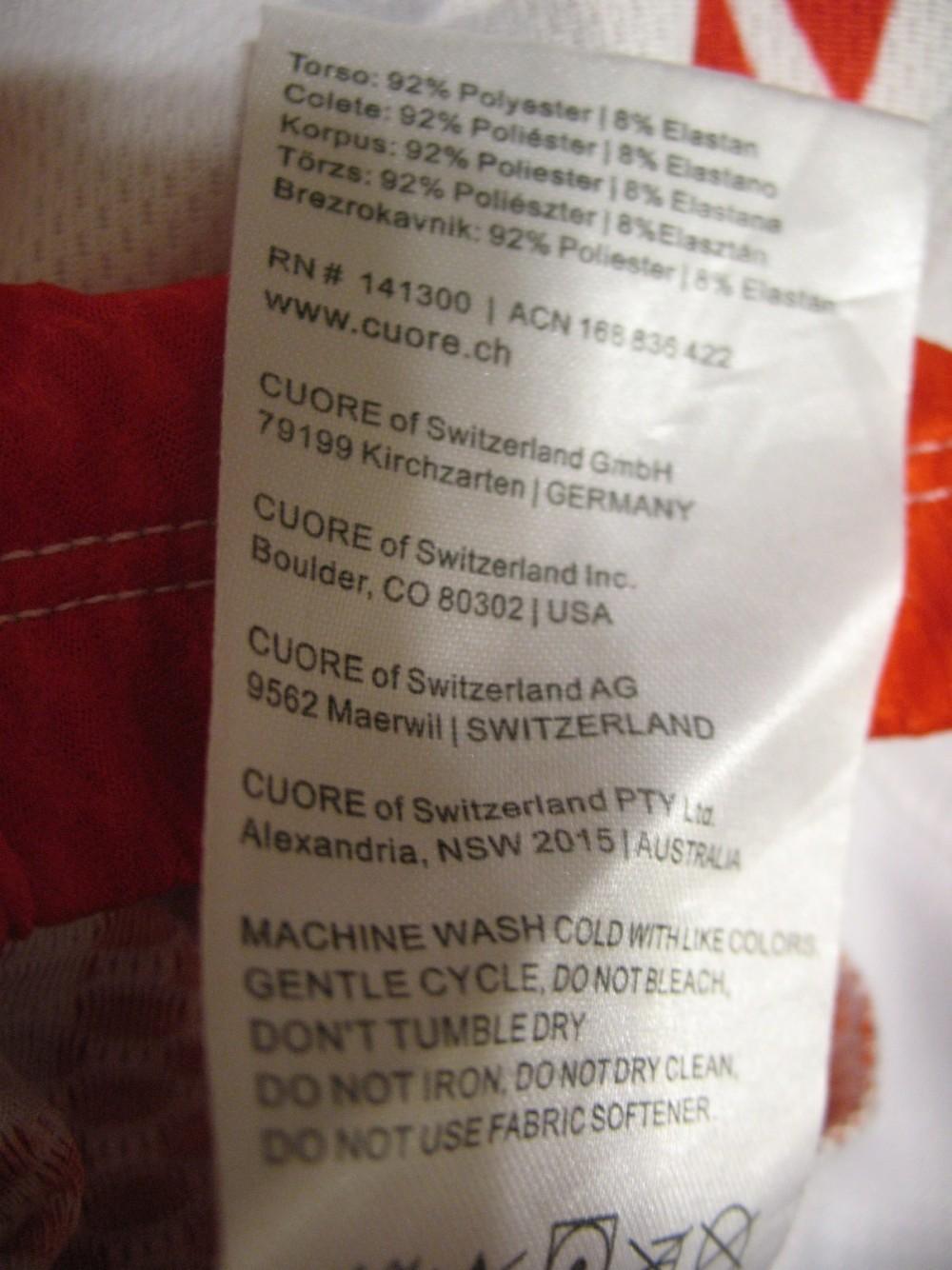 Веломайка CUORE blick trek cycling jersey (размер L) - 3